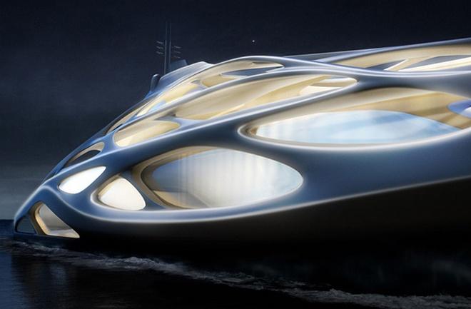 Super Yachts  Zaha Hadid's Super Yachts Revealed zaha hadid blohm voss superyachts 02 727363703 north 628x