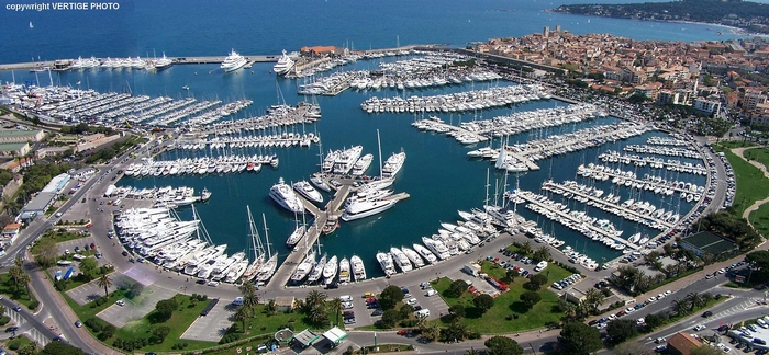Luxury yachts  Preview Antibes Yacht show Port Vauban COPYWRIGHT
