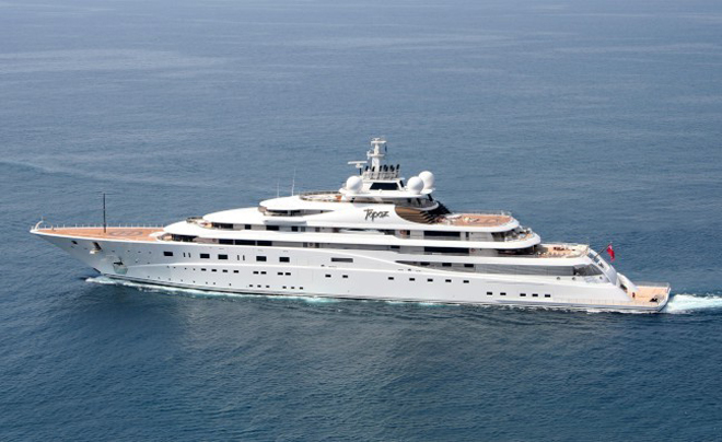 DiCaprio rented a $ 680 million yacht  to see the World Cup