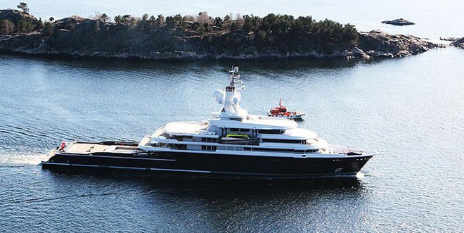 Luna, a luxury 115 meter Motor yacht
