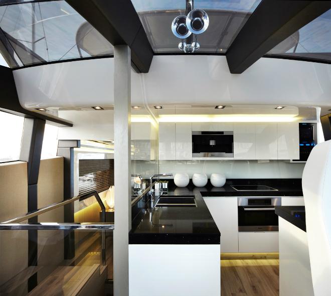Modern Yacht Interior 5  Pearl 75, a modern yacht's design Modern Yacht Interior 5