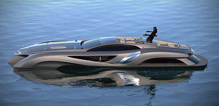 25 Milion $ Mega Yacht Concept: THE EXHIBITIONIST