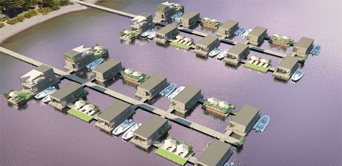 What about a floating village? What about a floating village
