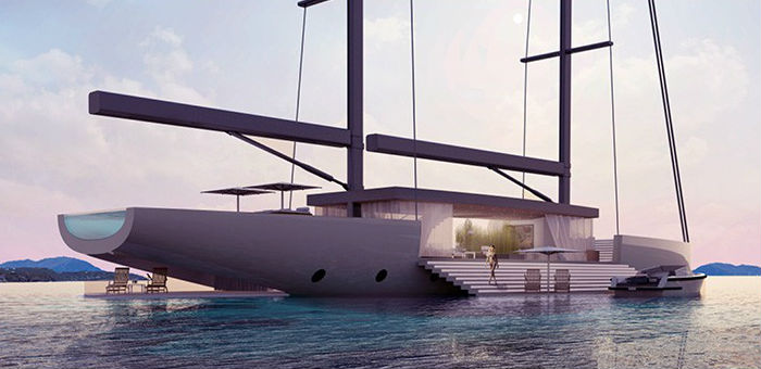 Lujac Desautel SALT yacht overlaps environment with the sea
