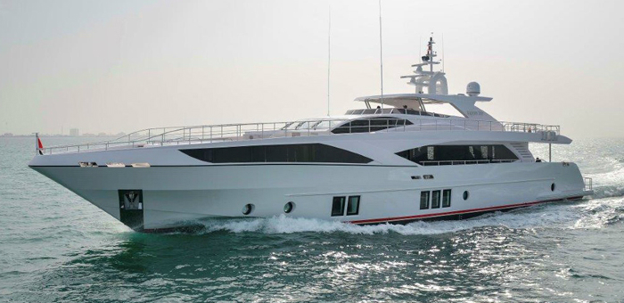 Superyacht Majesty 122 by Gulf Craft presented at Dubai Boat Show 2015