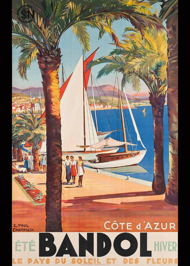 Luxury yacht destination 6 vintage Mediterranean posters 4  Luxury yacht destination: 6 vintage Mediterranean posters Luxury yacht destination 6 vintage Mediterranean posters 4