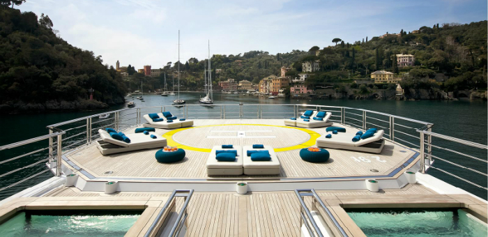 Top 5 Luxury Yacht helicopter decks