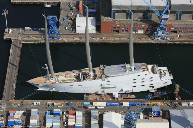 Russian billionaire unveils his £260m superyacht designed by Philippe Starck 5  Russian billionaire unveils his £260m superyacht designed by Philippe Starck Russian billionaire unveils his   260m superyacht designed by Philippe Starck 5