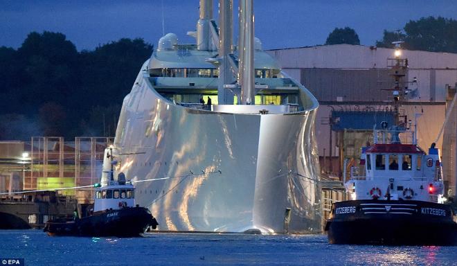 Russian billionaire unveils his £260m superyacht designed by Philippe Starck 54  Russian billionaire unveils his £260m superyacht designed by Philippe Starck Russian billionaire unveils his   260m superyacht designed by Philippe Starck 54