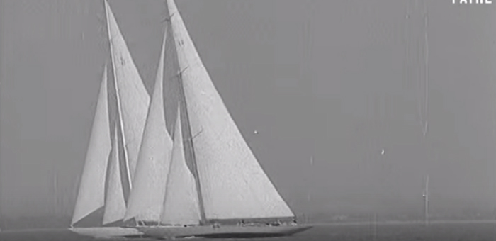 Sail back in time: J Class yachts in vintage video