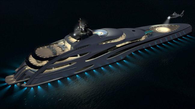 luxury yachts luxury superyacht A Trimaran design for a new Luxury Superyacht 1