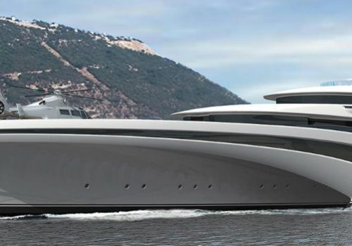 A Trimaran design for a new Luxury Superyacht
