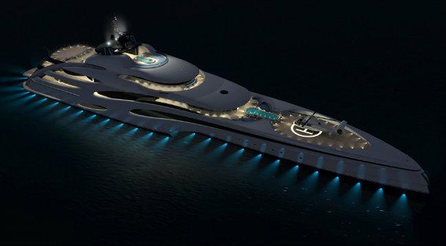 luxury superyacht luxury superyacht A Trimaran design for a new Luxury Superyacht 4