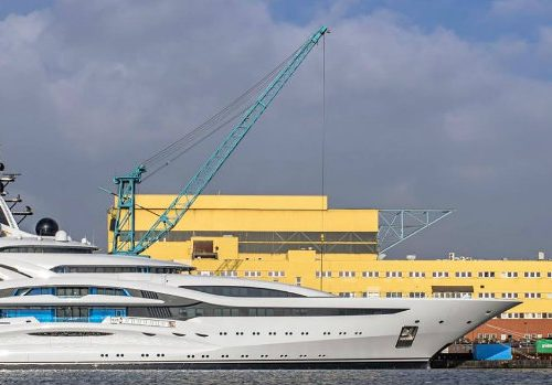 The Arrival of Project Jupiter by Lürssen Yachts