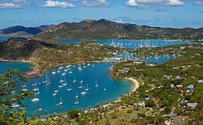 Caribbean Islands caribbean islands Luxury Yacht Destination – The Caribbean Islands antigua falmouth harbor overview