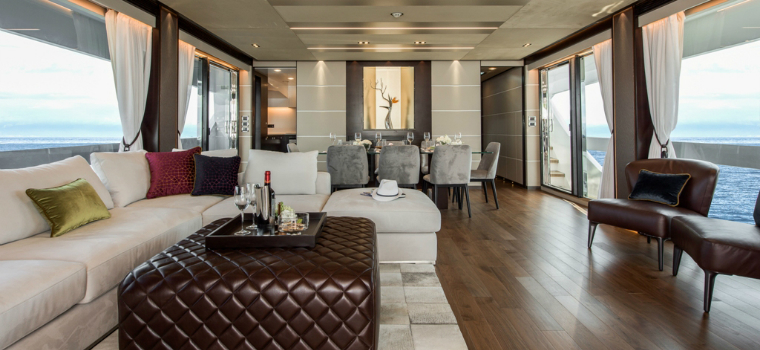 featured Interior Design Discover the Sleek Interior Design of the Luxurious Horizon FD85 Yacht featured