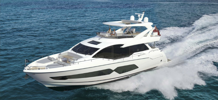 sunseeker 76 The Cleverly-Designed Sunseeker 76 Can Almost Be Consider a Superyacht featured 2