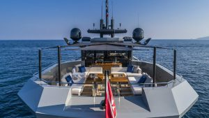 This is Arcadia's latest Eco-Friendly Yacht