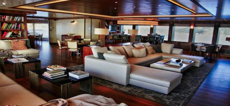 luxury living room The best luxury living room yachts from our favorite celebrities SevenSeas Spielberg