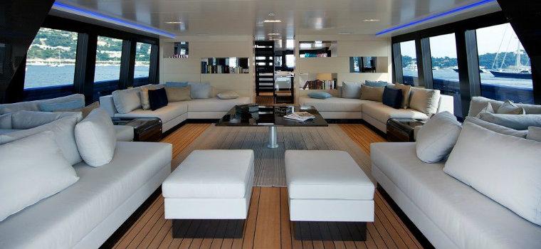 luxury living room The best luxury living room yachts from our favorite celebrities VENUSyachtinterior STEVE JOBS MEGA YACHT VENUS