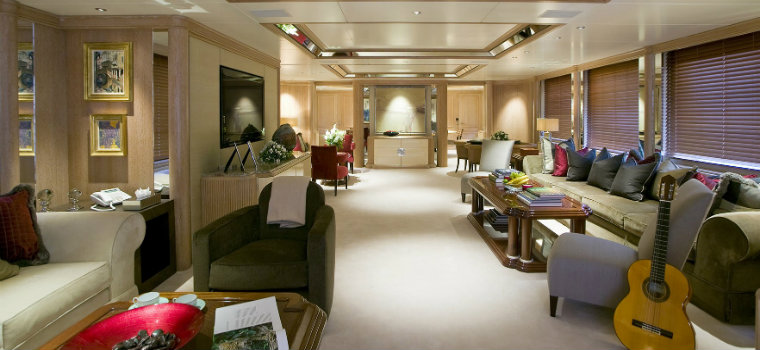 luxury living room The best luxury living room yachts from our favorite celebrities VaBane EricClapton