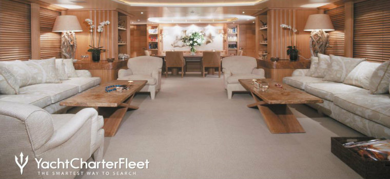 Alessandra yacht Alessandra Yacht is available to charter: have a look ALEXANDRA main saloon 17