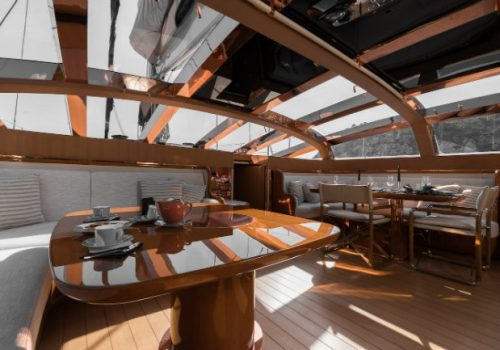 Have a look inside the wonderful superyacht Ribelle