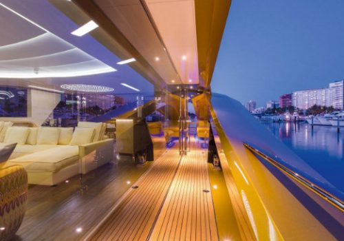 Inside Khalilah yacht, the first all-carbon superyacht