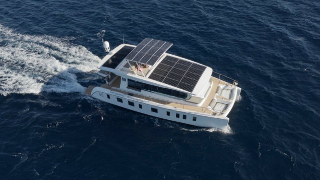 Silent Yachts' S55 is the first solar powered yacht in Asia