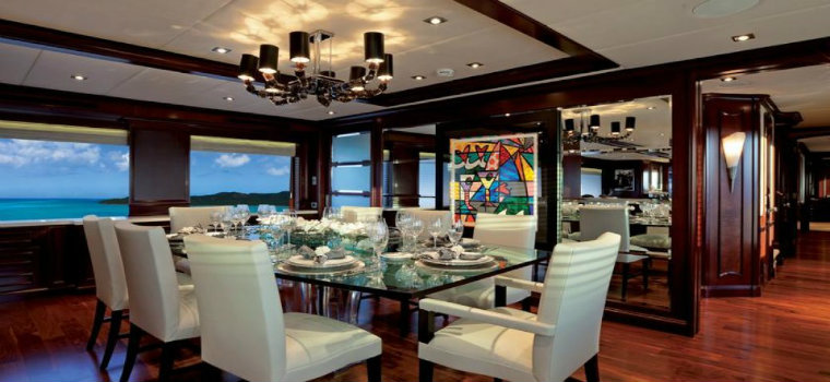 Alessandra yacht Alessandra Yacht is available to charter: have a look dining alessandra