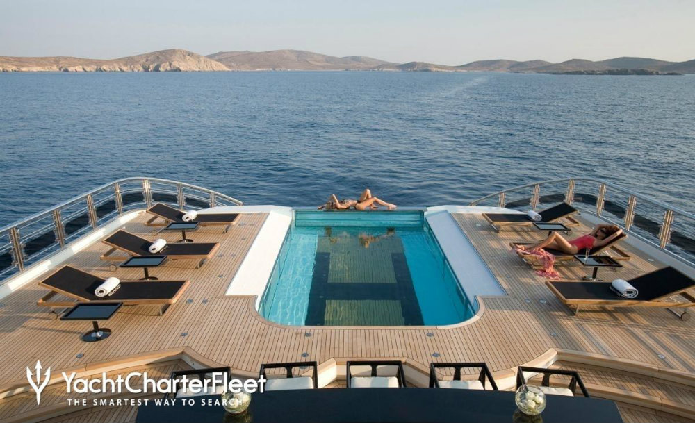 Have a look at our top 7 best superyacht pools superyacht pools Have a look at our top 7 best superyacht pools ALFA NERO yacht pool 5 large