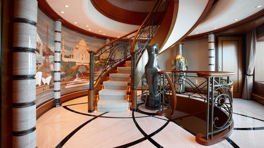 Have a look at our top 5 best superyacht staircases best superyacht staircases Have a look at our top 5 best superyacht staircases Lady Christine