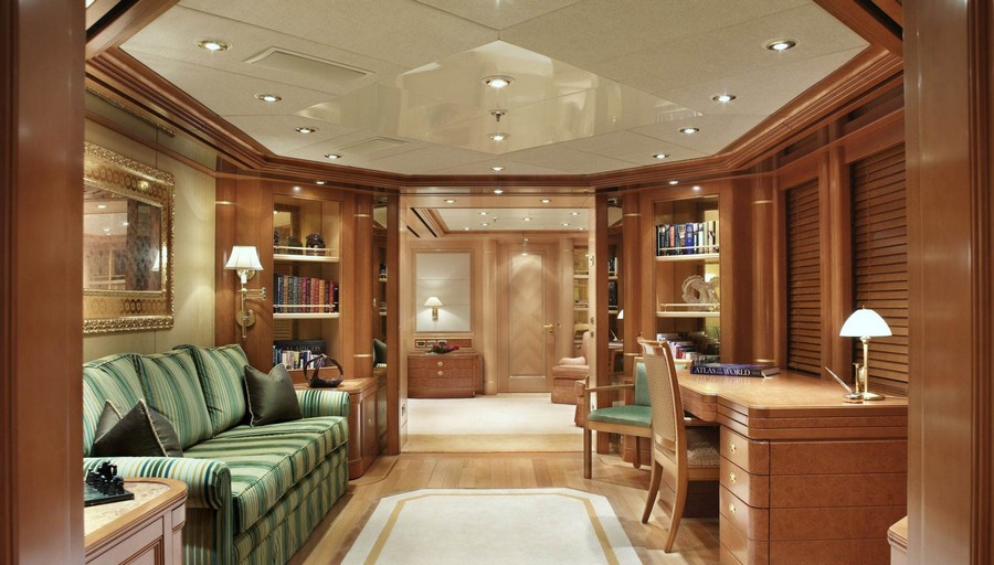 yacht interiors Have a look at 50 of the greatest yacht interiors – Part 3 Laurel1