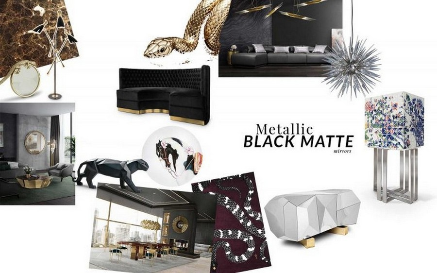 Furniture Trends By Top Luxury Brands for yachts in 2020! top luxury brands Furniture Trends By Top Luxury Brands for yachts in 2020! MetallicBlack Moodboard