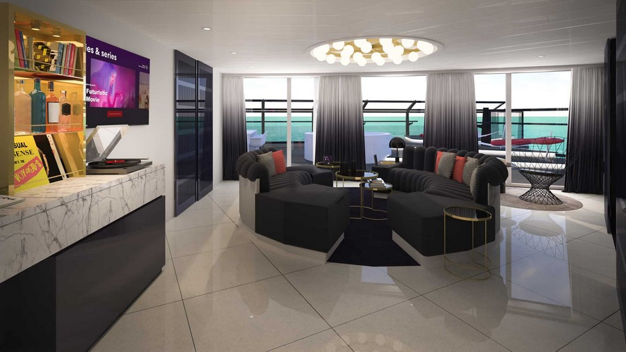 The Scarlet Lady: have a look at the suites designed by Tom Dixon Tom Dixon The Scarlet Lady: have a look at the suites designed by Tom Dixon Tom Dixon Virgin cruise suites 14