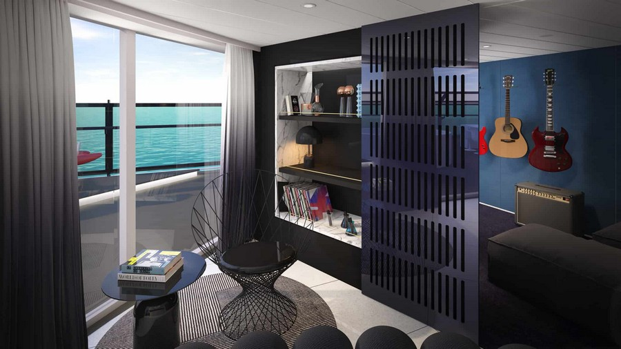 The Scarlet Lady: have a look at the suites designed by Tom Dixon Tom Dixon The Scarlet Lady: have a look at the suites designed by Tom Dixon Tom Dixon Virgin cruise suites 3