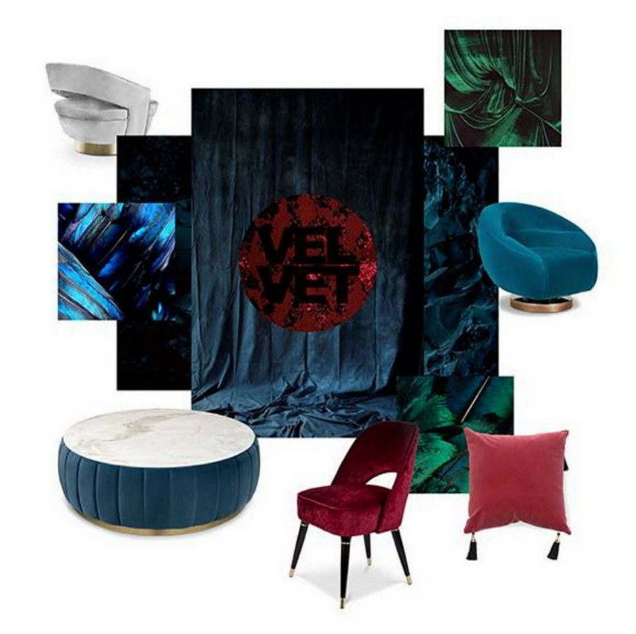 Furniture Trends By Top Luxury Brands for yachts in 2020! top luxury brands Furniture Trends By Top Luxury Brands for yachts in 2020! Velvet Moodboard