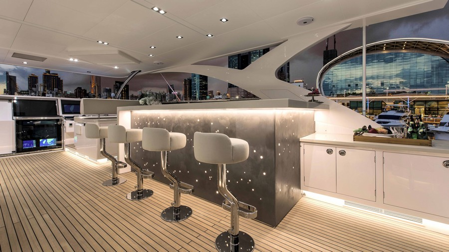 Have a look at 50 of the greatest yacht interiors - Part 2 yacht interiors Have a look at 50 of the greatest yacht interiors – Part 2 horizon rp110 flybridge 2