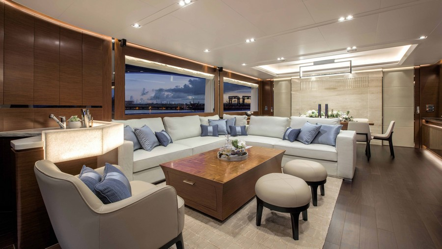 Have a look at 50 of the greatest yacht interiors - Part 2 yacht interiors Have a look at 50 of the greatest yacht interiors – Part 2 horizon rp110 salon 1