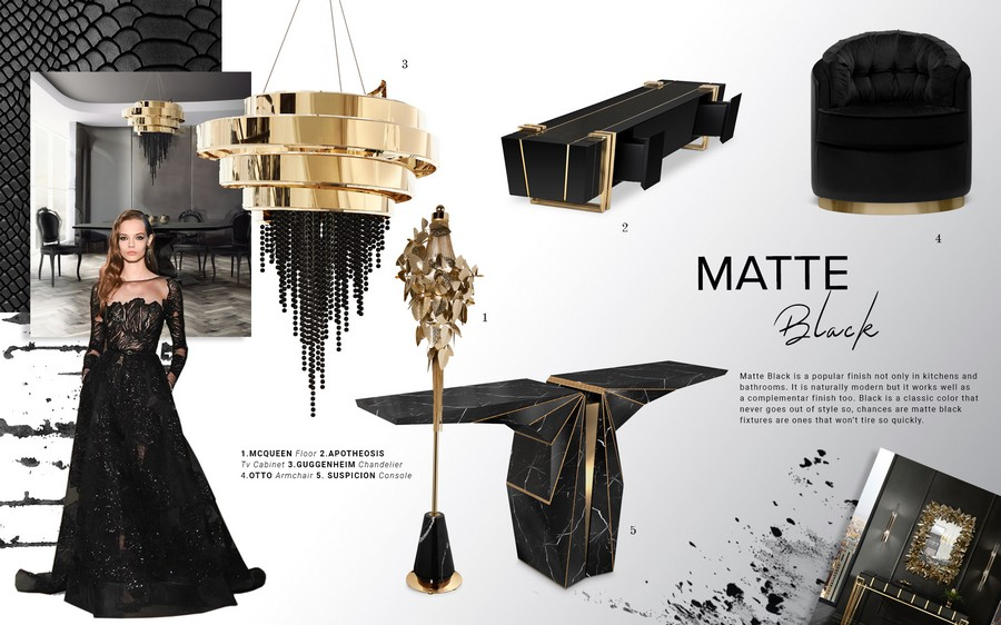 Inspire yourself with some black decoration in luxury yacht interiors luxury yacht interiors Inspire yourself with some black decoration in luxury yacht interiors moodboard trends 2019 matte black trends