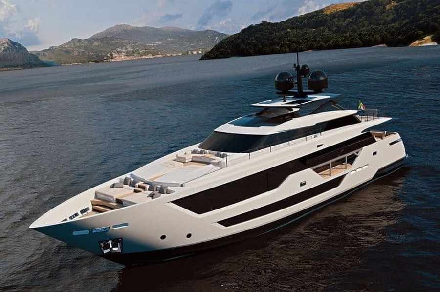 ferretti group See the all-new Custom Line 106 motor yacht from Ferretti Group Custom Line 106 2
