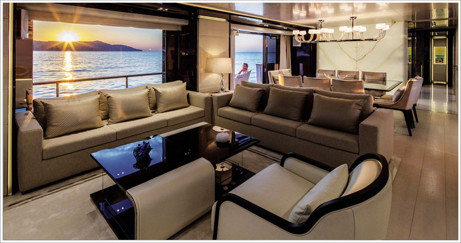 porta galleria A look at some amazing yacht interiors done by Porta Galleria Yacht1
