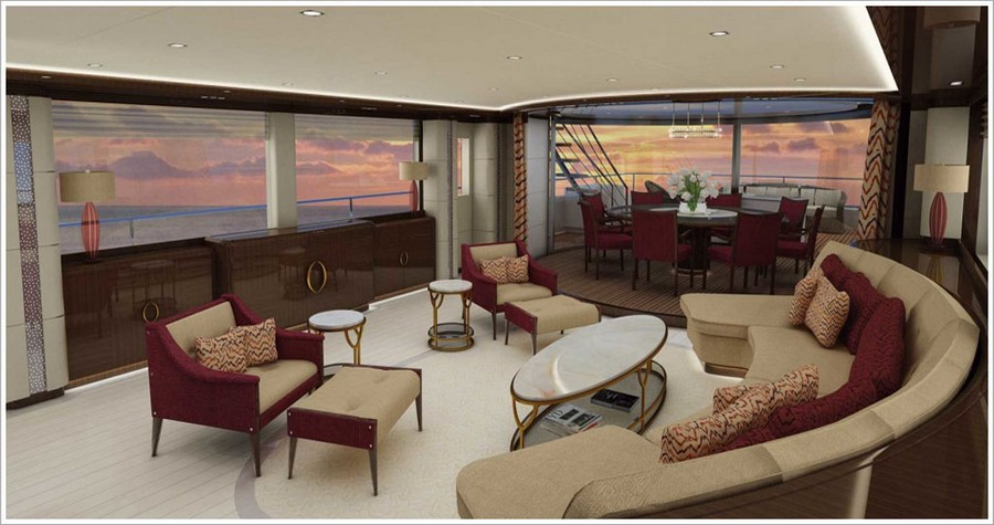 porta galleria A look at some amazing yacht interiors done by Porta Galleria Yacht6